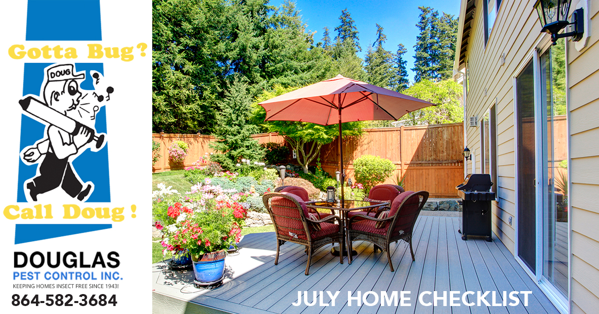 July Home Checklist