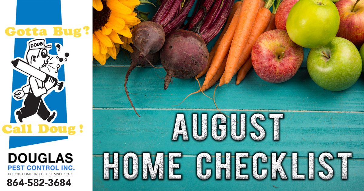 August Home Checklist