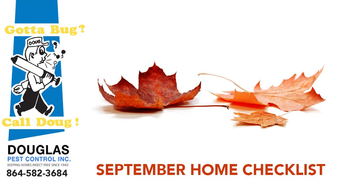 September Home Pest Control Checklist